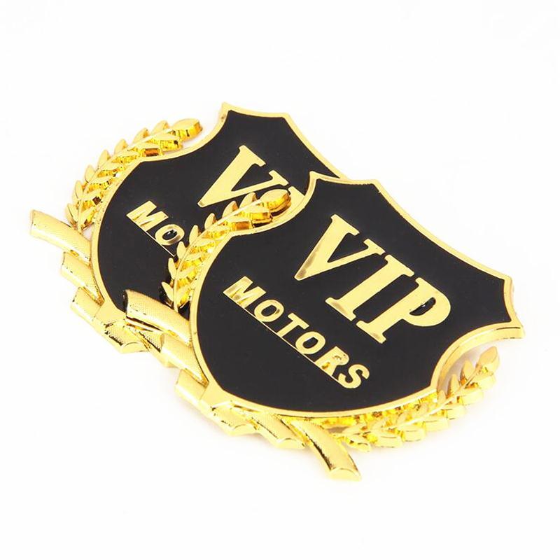 2pcs 3D Metal Car Styling VIP Emblem Stickers For Land Rover LR4 LR3 LR2 Range Rover Evoque Defender Discovery Freelander