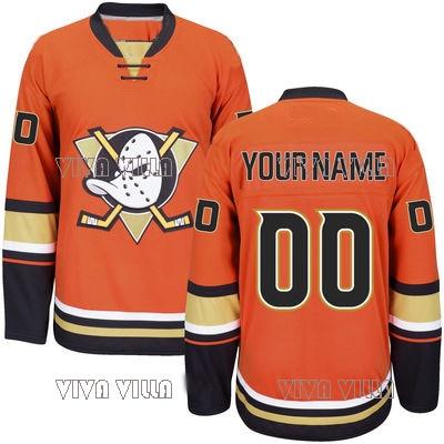 Mighty Ducks Jersey Personality Customize Any Name Any Numeber Stitched Logo Men's Ice Hockey Jersey 11 daniel alfredsso team sweden 30 henrik lundqvist 65 erik karlsson yellow ice hockey jersey stitched men hockey jersey s 6xl