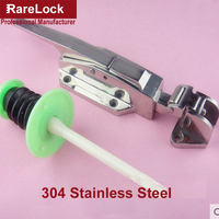Rarelock замки для духовки с холодным замком 304 ручка из нержавеющей стали для оборудование для кабинета пружинный замок DIY аксессуары