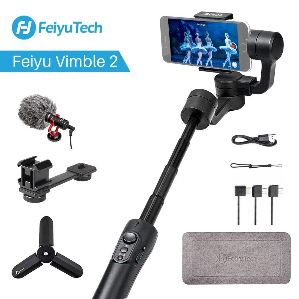 Feiyu tech Vimble 2 3-Axe Cardan Smartphone Stabilisateur avec Extensible De Poche télécommande PK DJI Osmo 2 Zhiyun Lisse Q 4