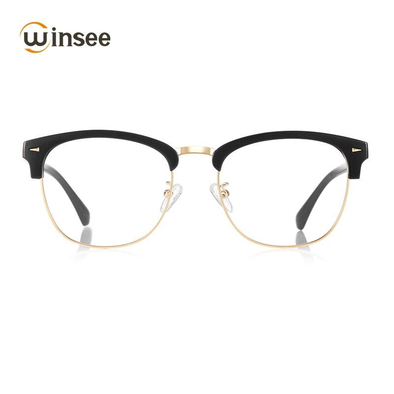 Winsee Acetate Glasses Women Optical Clear Vintage Retro Lens Aspherical Astigmatism Transition Old Computer Eyeglasses Myopia
