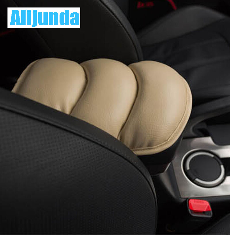 Alijunda General Car Leather Center Console Handrail Box Cover Pad Support Pillow for  Audi Q3 Q5 SQ5 Q7 A1 A3 S3 A4 S4 RS4 RS5