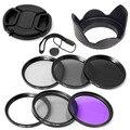 100% garantie 67mm UV CPL FLD ND2 4 8 filtre + pare soleil + capuchon pour Nikon D7000 D5100 D5000 D3200 D3100 D80|cap channel|cap la|cap heat -