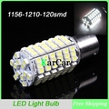 1156 BA15S 1210/3528 LED 120SMD Car Rear Tail Stop Light P21W Turn Signal Bulb, 12V 7506 1141 Reverse Lamps 1003 Tail Lights