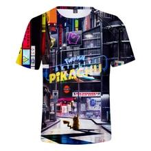 все цены на 2019 New Pokemon Detective Pikachu 3D Print T-shirts Women/Men Fashion Summer Short Sleeve Tshirt Casual Streetwear T shirts