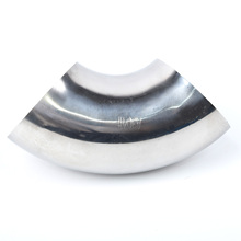3 Inch 2mm 90° 304 Stainless Steel Elbow Pipe Tube Bend Fitting For Car Exhaust Stair Handrail