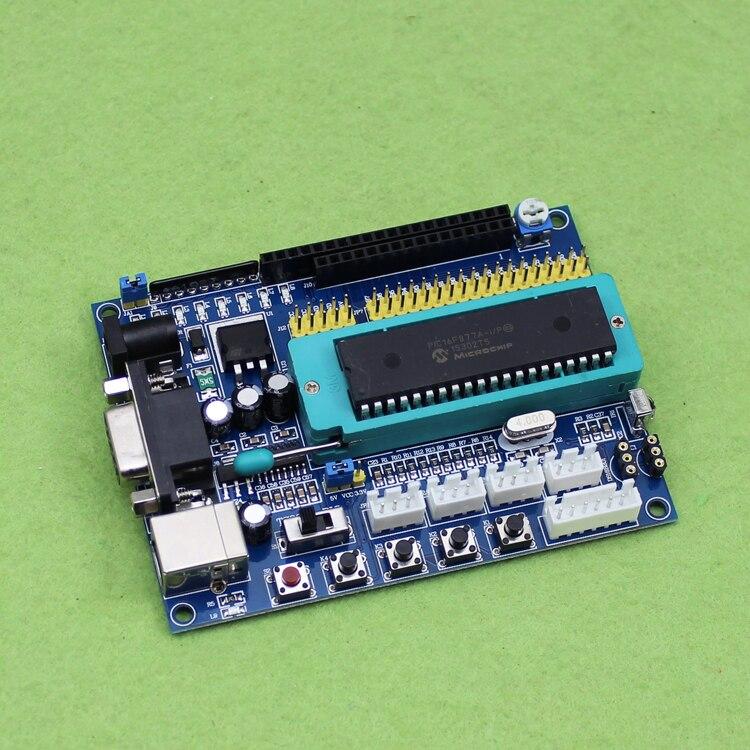 PIC System Board PIC16F877A Development Board PIC Test Circuit Board Source Code (H6A3) pic development board pic16f877a pic16f877a i p 8 bit risc pic microcontroller development board 11 accessory modules