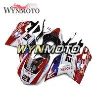 Полный гонки обтекатель комплект для Ducati 1198 1098 848 год 2007 2012 впрыска ABS Пластик мотоциклетные кузов красный черный, белый цвет корпус