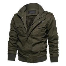 6XL Thermal Military Jacket Men 2019 Winter Casual Coat Thick Army Pilot Jackets Air Force Cargo Jaqueta Fleece Lining