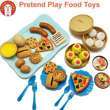 Kitchen Fake Food Toys Pretend Play Kids kitchen Goods Girls Games House Set Miniature Educational For Children