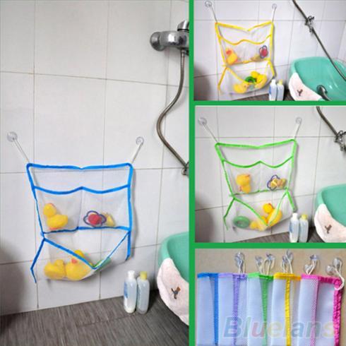 Casa Bagno Bagno Sacchetto Netto di Aspirazione Del Capretto Del Bambino sacchetto del Giocattolo di Stoccaggio Organizer Tidy 1PY4 2SGB