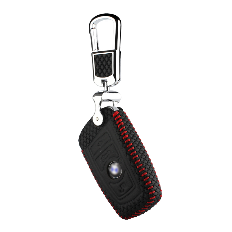 luckeasy leather key case for bmw F10 F20 F30 1 2 3 4 5 6 7 series X3 X4 320I 116I 118I 328I 530I 2015 2016 2017 leather key3