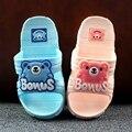 Лето мультфильм прохладно тапочки детские мягким дном без скольжения ванной тапочки для душа животных симпатичные пляжные тапочки крытый обувь
