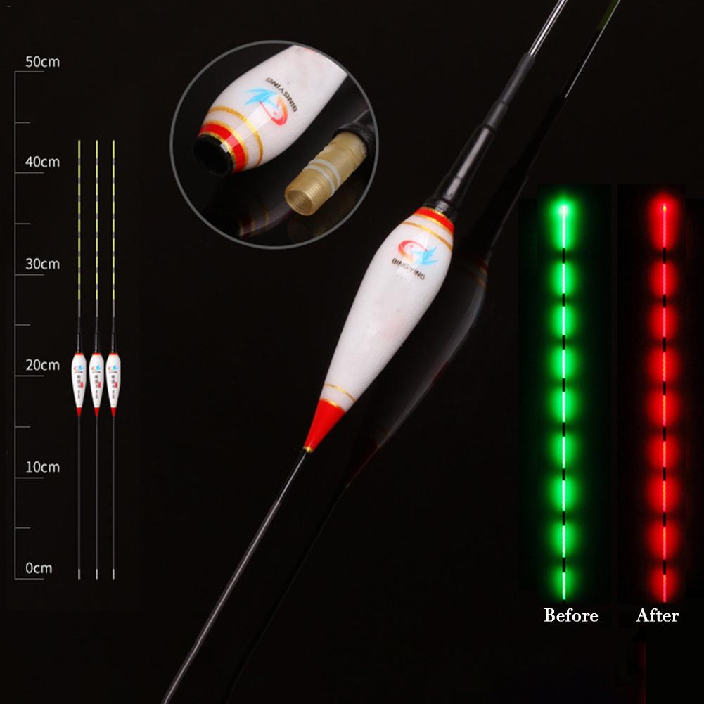 Image 5 - 1/3pc/set Smart Fishing Float LED Electric Float Light Fishing Tackle Luminous Electronic Float Fishing Accessories With Battery-in Fishing Float from Sports & Entertainment