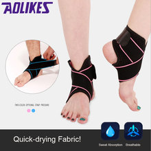 2018 Brand New Sports Elastic Nylon Strap Ankle Support Brace Pink Blue Ankle Support Fitness Football Basketball Gym Protector