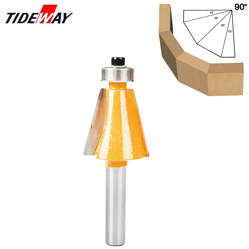 8mm Shank 15 Degree Chamfer & Bevel Edging Router Bit Horse Nose Bit with bearing Wood Cutting Tool Woodworking Router Bits8mm Shank 15 Degree Chamfer & Bevel Edging Router Bit Horse Nose Bit with bearing Wood Cutting Tool Woodworking Router Bits