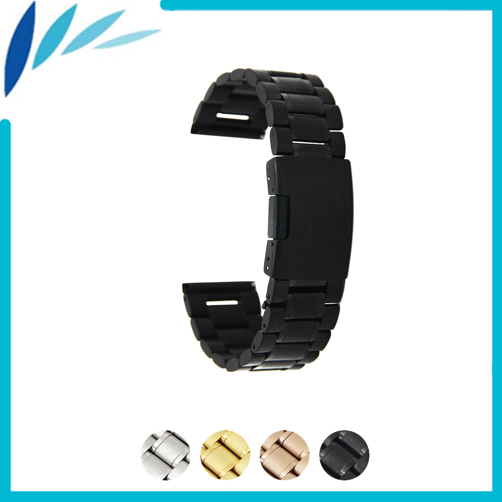 Stainless Steel Watch Band 14mm 16mm 18mm 19mm 20mm 21mm 22mm 24mm for Fossil Watchband Strap Wrist Loop Belt Bracelet Silver 14mm 16mm 17mm 18mm 19mm 20mm 21mm 22mm 23mm 24mm silver black full stainless steel watch strap wacthband for rarone with logo