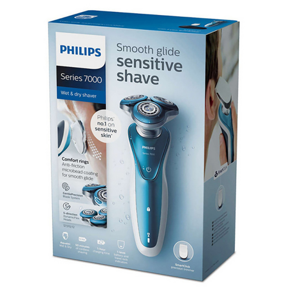 Image 5 - Professional Philips Electric Shaver S7370 with Gentle Precision PRO Blades SmartClick precision trimmer Wet and dry for Mens-in Electric Shavers from Home Appliances