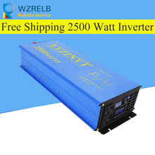 Reliable Pure Sine Wave Inverter UPS and charging function 2500W outdoor home frequency inverter with charger onda senoidal pura inversor 2500 watts fedex dhl ups free shipping dc48v to ac110v 220v 2500w pure sine wave inverter
