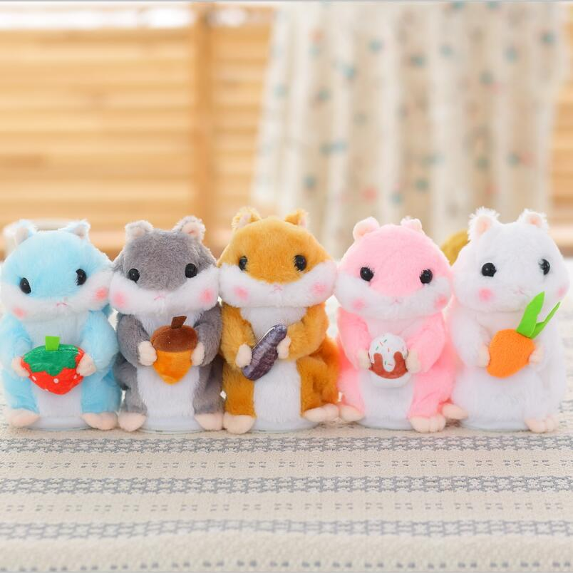 TaKawaii Talking Hamster Plush Toys Sound Record Plush Hamster Stuffed Toys for Children Kids Birthday Gift 20cm ysdx 811 video version mimicry pet talking hamster plush toy for kids grey light yellow pink