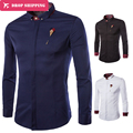 Shirts Chemise Homme Cotton Be Top Brand New Spring Fashion Shirt Solid Full Sleeve Camisa High Quality Male 3colors ,gx158