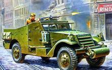 Art world war 2 WW2 M3A1 Scout Car multi-role armored vehicle Soviet Union M2 50 caliber Browning machine gun Canvas Poster