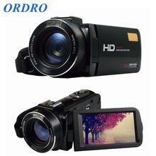 Nouvelle arrivée ordro hdv-z20 wifi vidéo caméscope full hd 1080 p de poche appareil photo numérique avec microphone externe (hdv-z20)