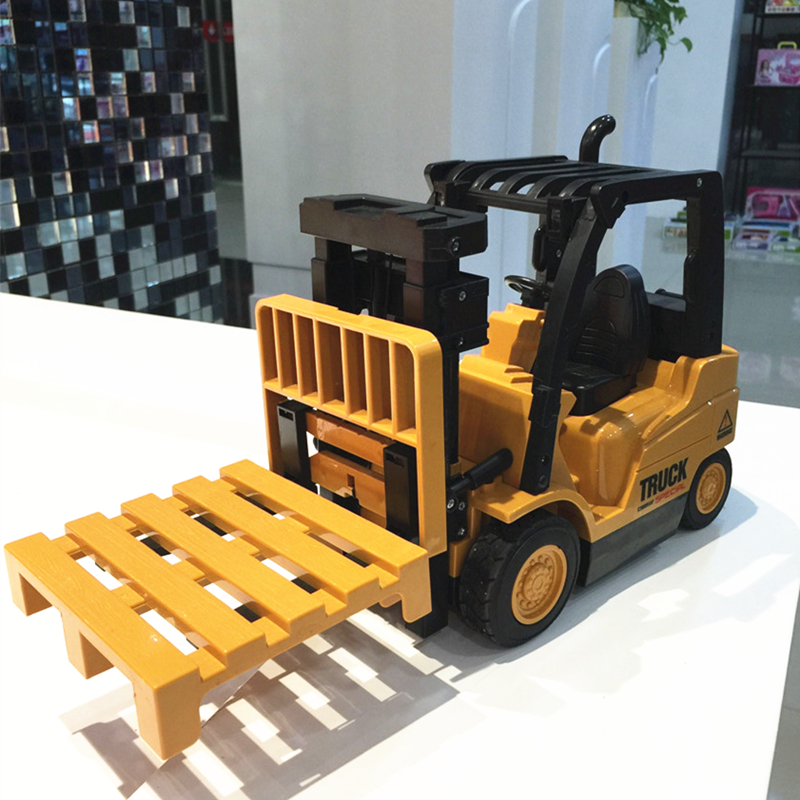 6CH New RC Truck Fork Lift Wireless Remote Control Truck Clasps Car Mechanical Electrical Model Toy Christmas Gift For Kids