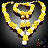 Braziliaanse sieraden set hoge end hars kralen sieraden set guangzhou yulaili mode-sieraden