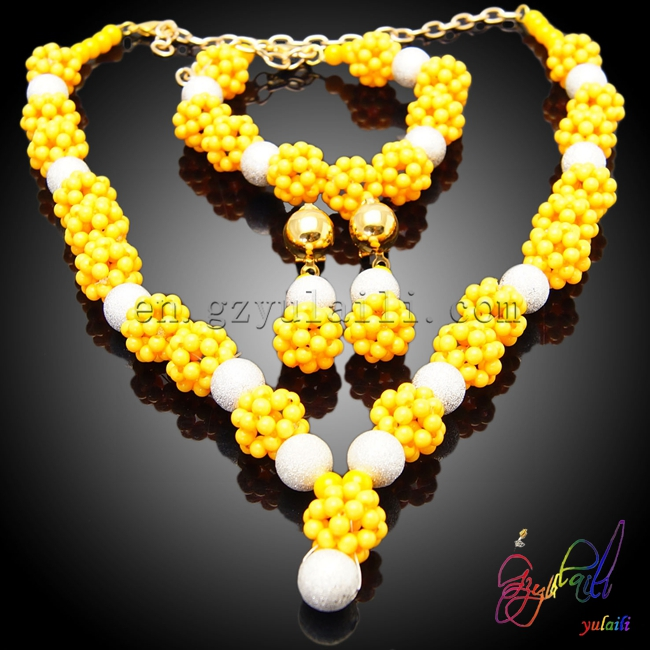 Brazilian jewelry set high end resin beads jewelry set guangzhou yulaili fashion jewelry цена