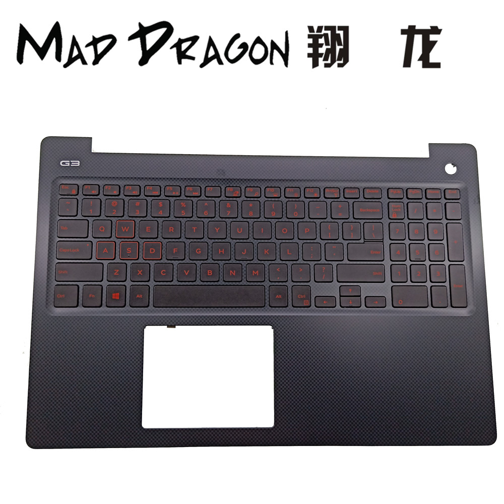 MAD DRAGON Brand Laptop new Blue light US Red light keyboard and palmrest For Dell G3 15 Gaming G3 3579 15 3579 V 0N4HJH N4HJHMAD DRAGON Brand Laptop new Blue light US Red light keyboard and palmrest For Dell G3 15 Gaming G3 3579 15 3579 V 0N4HJH N4HJH