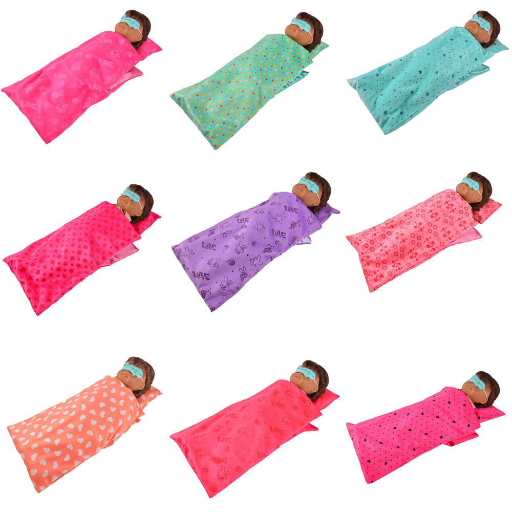 18 Inch American Girl American Girl Doll Doll Sleeping Bag Children Play Toy Accessory Birthday Gift lifelike american 18 inches girl doll prices toy for children vinyl princess doll toys girl newest design