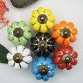 10 pcs Pumpkins Knob Cerâmica Porta Do Armário Armário Alças Puxe Gaveta 7 cores