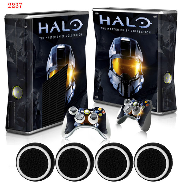 Halo custom cool vinyl host protective film skin sticker 2 gamepad decals covers for xbox