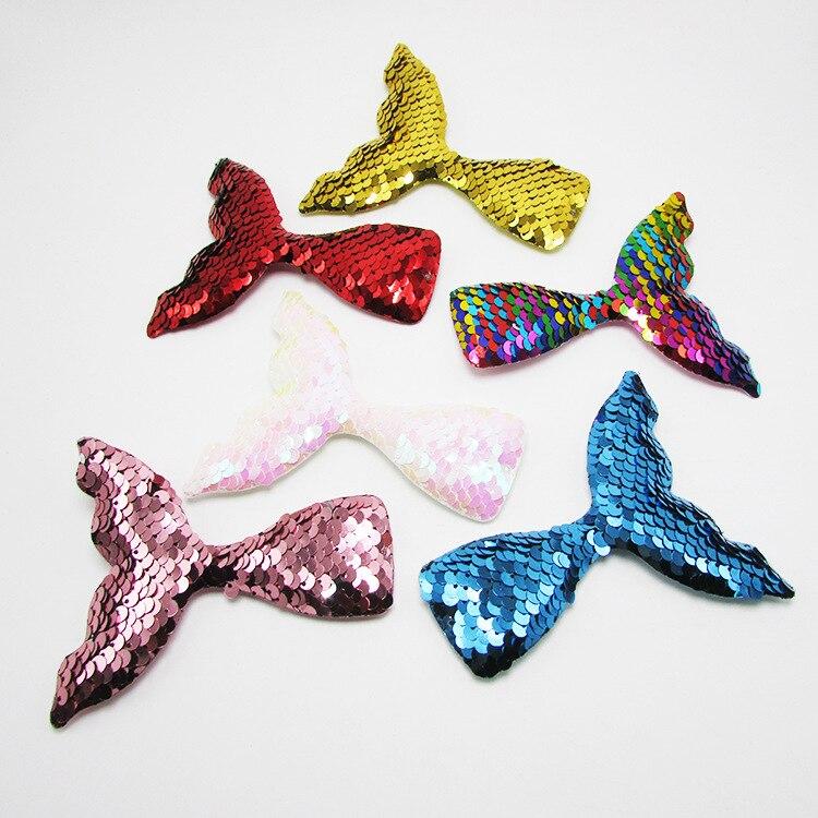120pcs lot Beatifully Mermaid Design Fashion Scales Sequins Hair Bow Women Hairpins Girl Hair Clips Kids
