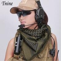 2016 Fashion Women Men Military Shemagh Tactical Desert 100 Cotton Keffiyeh Scarf Wrap Muslim Hijab Shemagh