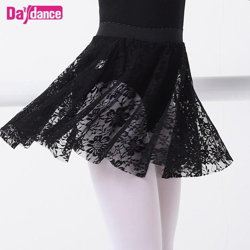 Kids Lace Ballet Skirts Toddler Girls Dance Training Skirt Girl White Black Pink Lyrical Leotards Dancewear