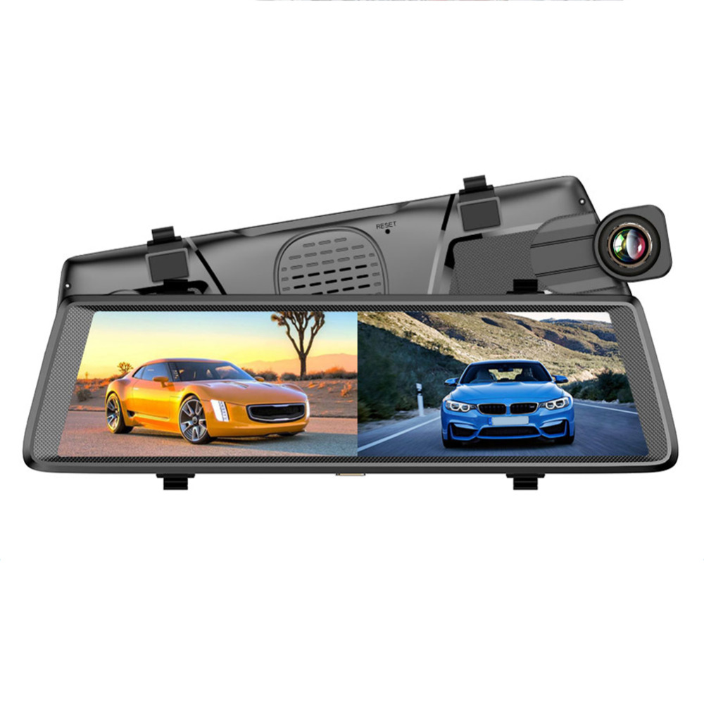 VODOOL Car DVR Dash Camera Video Recorder F900 10inch Full Mirror Dual Lens FHD 1080P Car DVR 140 Degree Lens Rear View Mirror цены онлайн
