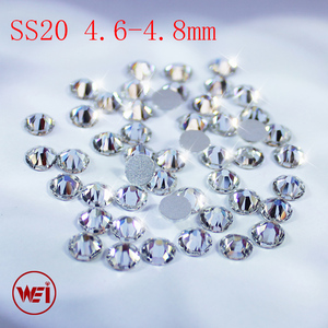 High Quality Flatback Strass Glass Material Clear Crystal ss3 to ss50 Non Hotfix Rhinestones For Nail Art
