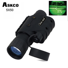 цена на Gen1 multifunctional night vision 5 times monocular infrared night vision goggles telescope for hunting scope free shipping