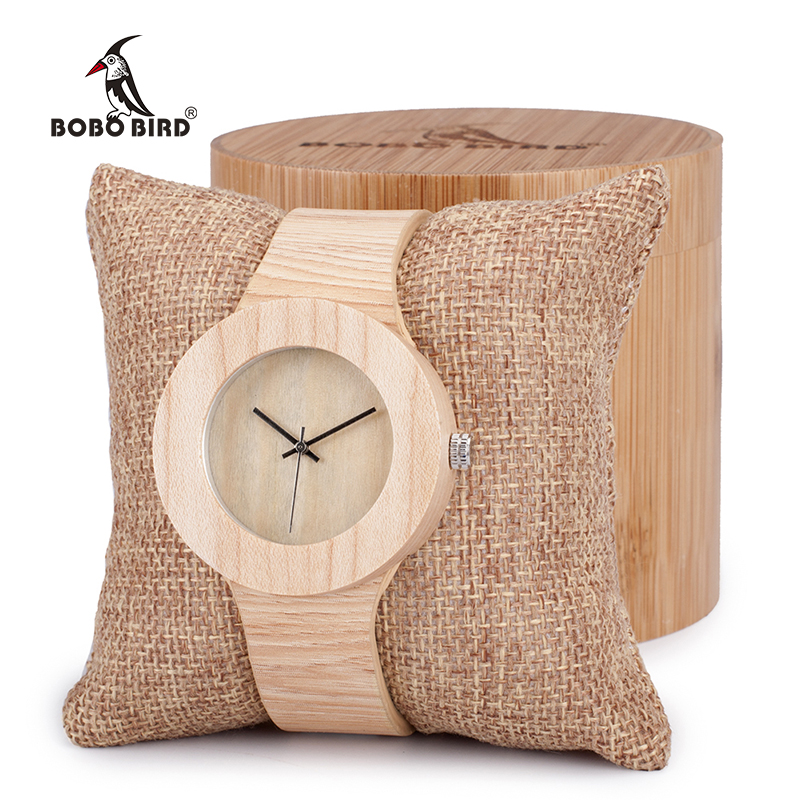 BOBO BIRD Womens Retro Wooden Gold Watches With Wood Grain Vegetable Tanned Leather Simplement Design Ladies Wristwatch
