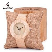 Comprar BOBO BIRD mujer Retro relojes de oro de madera con grano de madera vegetal curtido cuero Simplement diseño señoras reloj de pulsera
