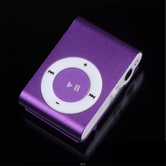 FGHGF cheapest USB metal mini Clip mp3 Player sport portable Music digital TF/SD Card Slot player mp 3 player card running