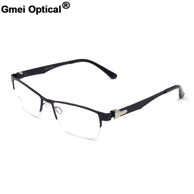 87a4f269a76 Gmei Optical Trendy Titanium Alloy Optical Eyeglasses Frames Semi Rimless  Alloy Eyewear For Men and Women S6704-in Eyewear Frames from Apparel  Accessories ...