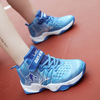 Basketball Shoes For Boys | New Children Athletic Basketball Shoes Kids Air Original Enfant Boys Cushion Shoes Boy Breathable James Outdoor Jogging Sneakers