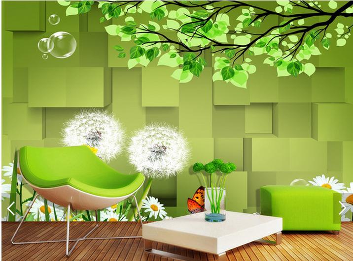 online get cheap gr ne bl tter tapete. Black Bedroom Furniture Sets. Home Design Ideas