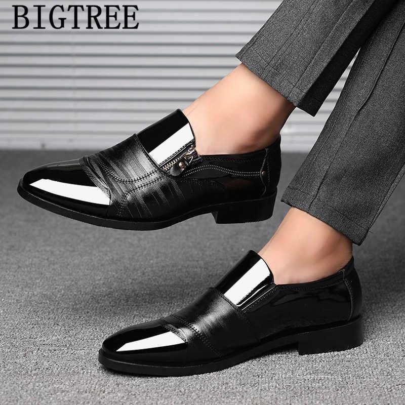 อิตาเลี่ยนรองเท้าสีน้ำตาลสิทธิบัตรหนังผู้ชายรองเท้าธุรกิจรองเท้าอย่างเป็นทางการรองเท้าผู้ชาย zapatos oxford hombr