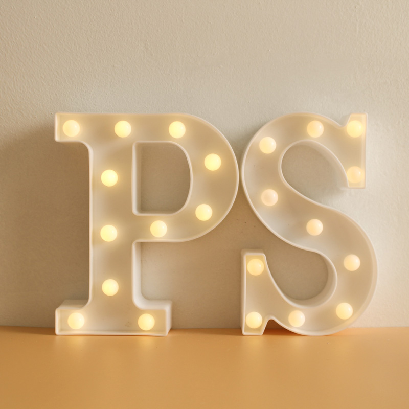 Creative LED Letter Night Light 26 English Alphabet Lamp For Bedroom Children Room Party Birthday Wedding Decoration Supplies цена