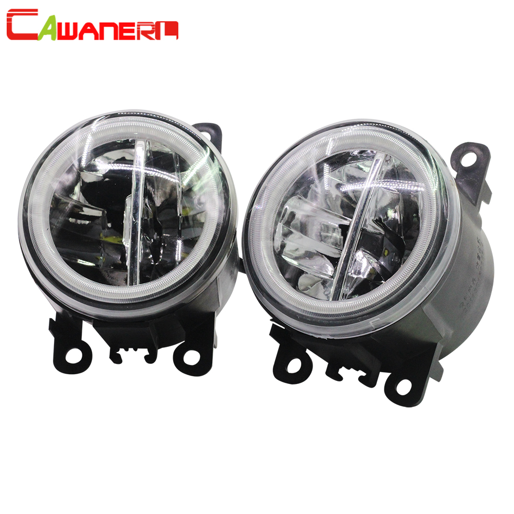 Cawanerl For Renault Laguna 3 III Grandtour 2007 2012 Car LED Bulb H11 Fog Light Angel