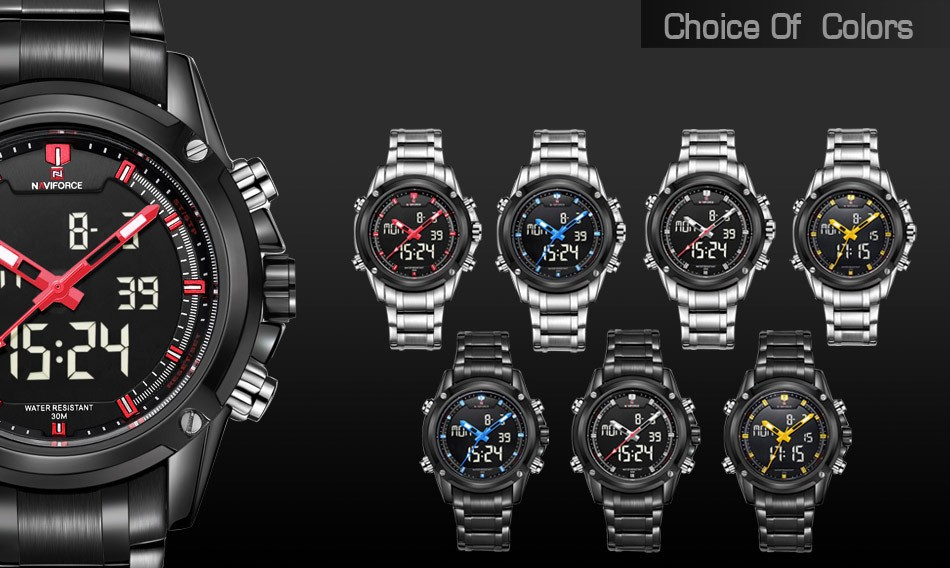 Men's Military Sports Watches  LED colors